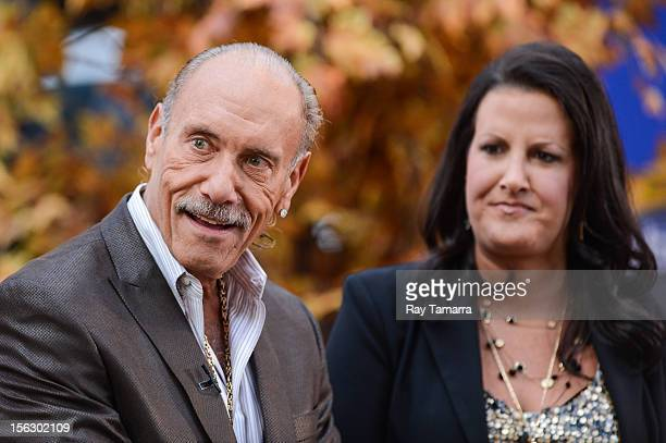 """Personalities Les Gold and Ashley Broad tape an interview at """"Good Morning America"""" at the ABC Times Square Studios on November 12, 2012 in New York..."""