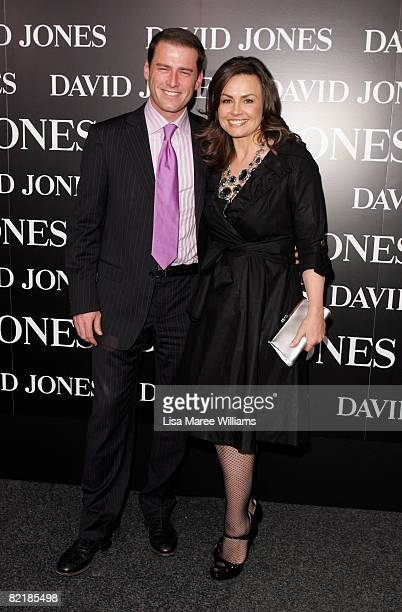 TV personalities Lisa Wilkinson and Karl Stefanovic arrive on the red carpet at the David Jones Summer 2008 Collections Launch 'Summer In The City'...