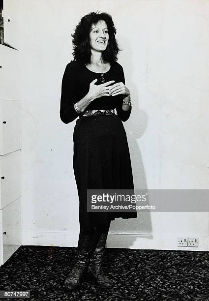 "Personalities, Literature, pic: 1970, Australian feminist Germaine Greer, the author of the ""Female Eunuch"""