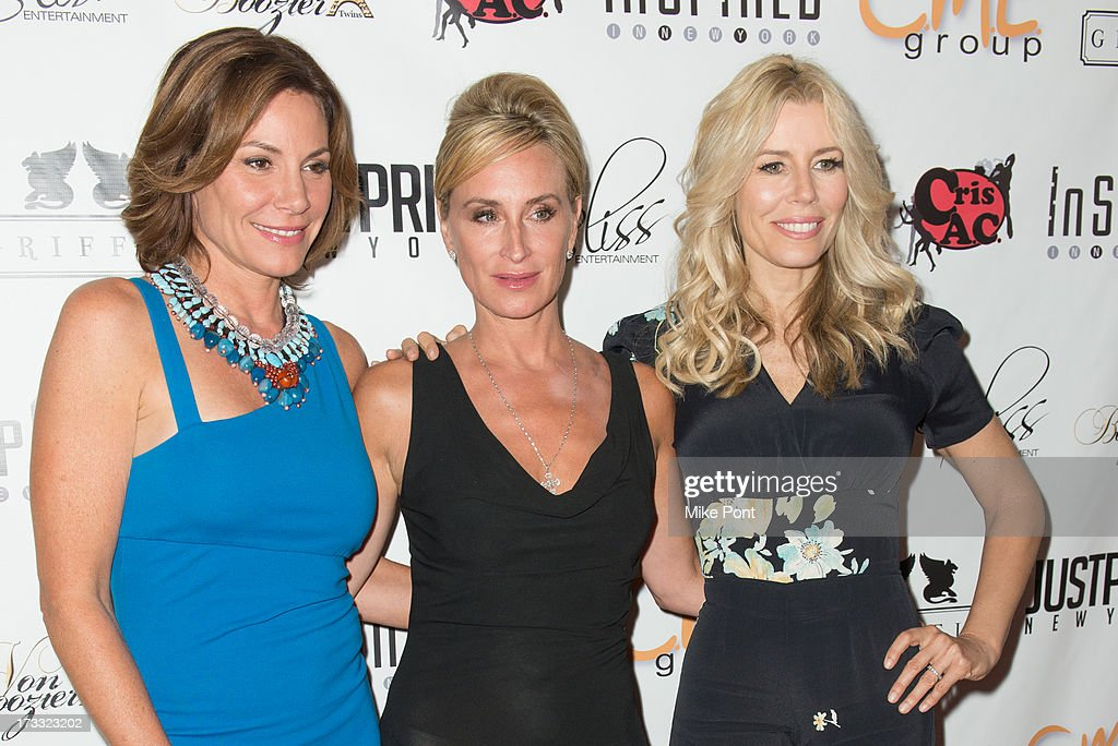 TV personalities LuAnn de Lesseps, Sonja Morgan, and Aviva Drescher attend the 'Inspired In New York' event on July 11, 2013 in New York, United States.