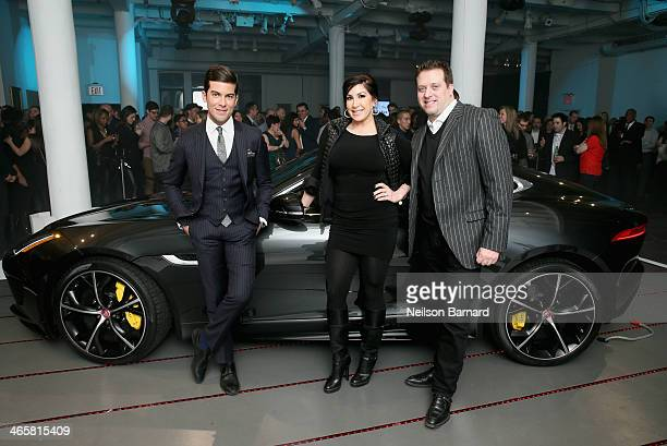 TV personalities Luis Ortiz Jacqueline Laurita and Chris Laurita at the Jaguar and Deadspin VIP event at Skylight West in New York City on January 29...