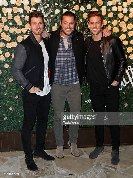 TV personalities Luke Pell Chris Soules and football quarterback Jordan Rodgers attend Becca Tilley's blog and YouTube launch party at The Bachelor...