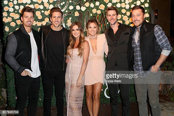 TV personalities Luke Pell Jordan Rodgers JoJo Fletcher BEcca Tilley Robert Graham and Chris Soules attend Becca Tilley's blog and YouTube launch...