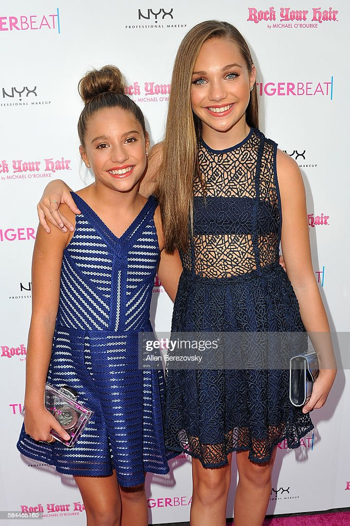 TV personalities Mackenzie Ziegler (L) and Maddie Ziegler attend Tiger Beat's Pre-Party around FOX's Teen Choice Awards at HYDE Sunset: Kitchen + Cocktails on July 28, 2016 in West Hollywood, California.