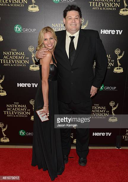 TV personalities Mark Labbett and Brooke Burns attends The 41st Annual Daytime Emmy Awards at The Beverly Hilton Hotel on June 22 2014 in Beverly...