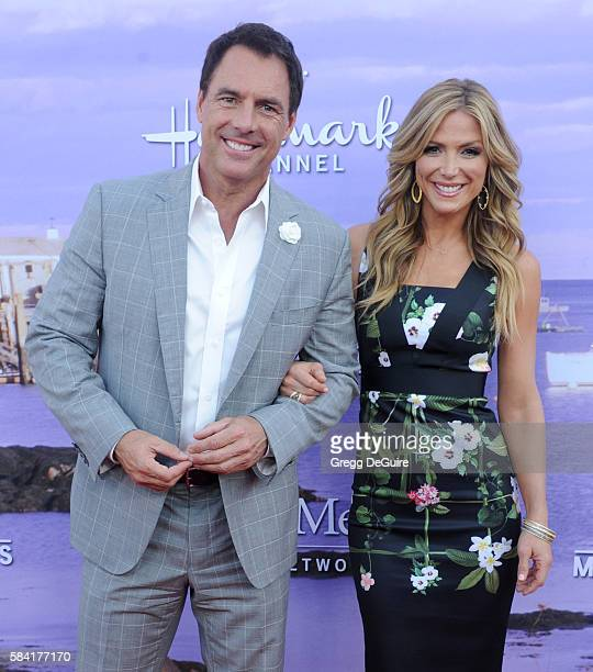TV personalities Mark Steines and Debbie Matenopoulos arrive at the Hallmark Channel and Hallmark Movies and Mysteries Summer 2016 TCA Press Tour...