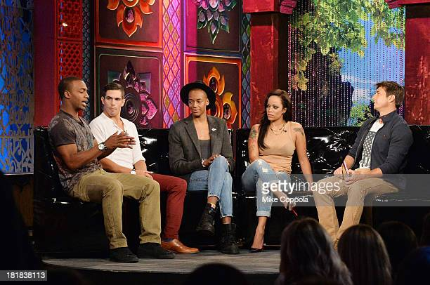 TV personalities Marlon Williams Jordan Wiseley Preston RobersonCharles Aneesa Ferreira and Jonny Moseley appear on MTV's 'The Challenge Rivals II'...