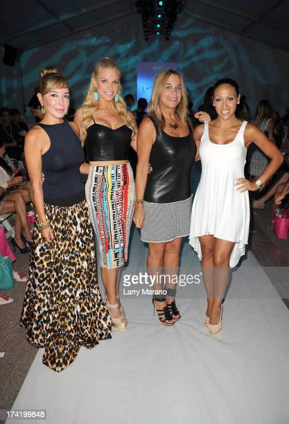 TV personalities Marysol Patton Alexia Echevarria designer Monica Wise and Melissa Gorga attend the L*Space By Monica Wise show during MercedesBenz...