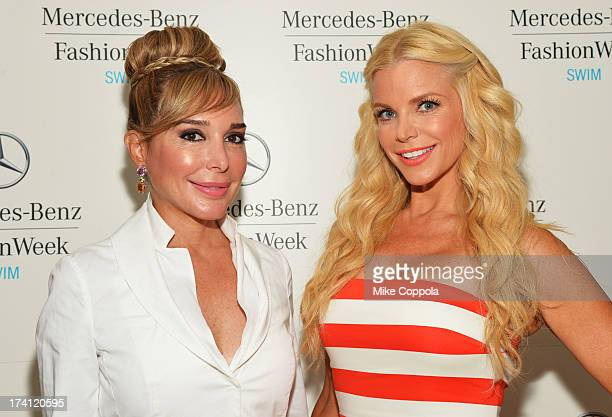 TV personalities Marysol Patton and Alexia Echevarria seen during MercedesBenz Fashion Week Swim 2014 at the Raleigh on July 20 2013 in Miami Beach...