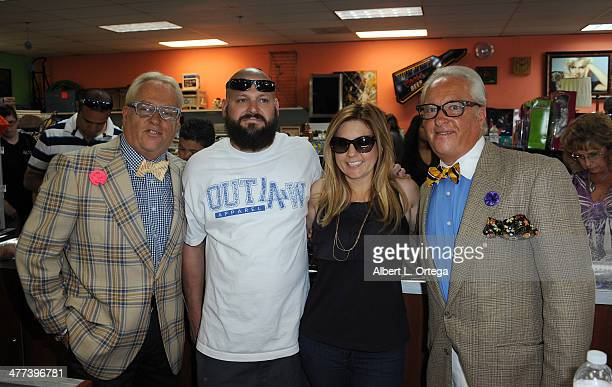 TV personalities Matt Harris Jarrod Schulz Brandi Passante and Mark Harris attends the Premiere Party For Storage Wars Season 4 held at Now and Then...