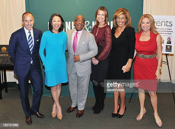 TV personalities Matt Lauer Ann Curry Al Roker Savannah Guthrie Hoda Kotb and Kathie Lee Gifford promote 'From Yesterday to TODAY Six Decades of...