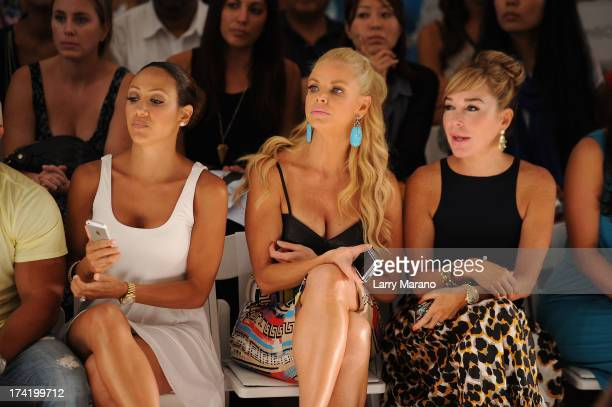 TV personalities Melissa Gorga Alexia Echevarria and Marysol Patton attend the L*Space By Monica Wise show during MercedesBenz Fashion Week Swim 2014...