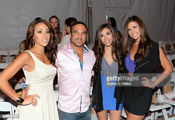 Personalities Melissa Gorga and Joe Gorga and L2 music duo Jessica Labbadia and Melissa Labbadia attend the LSpace by Monica Wise show during...