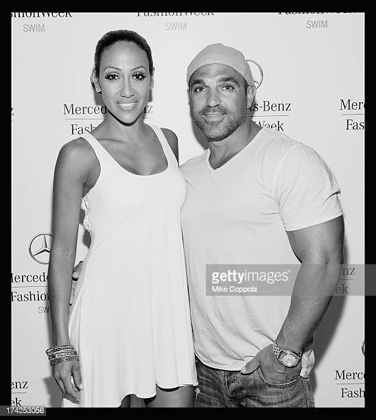 TV personalities Melissa Gorga and Joe Gorga seen during MercedesBenz Fashion Week Swim 2014 at the Raleigh Hotel on July 21 2013 in Miami Beach...