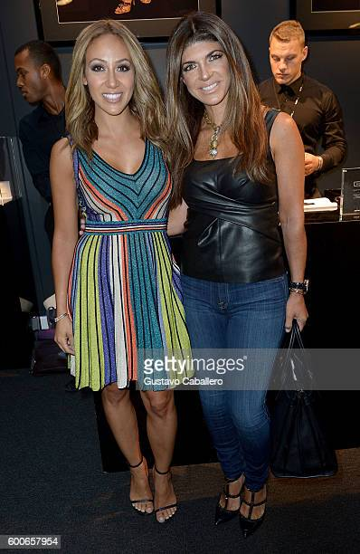 Personalities Melissa Gorga and Teresa Giudice attend the Nike Kids Rock Cocktails Canapes event during New York Fashion Week The Shows on September...