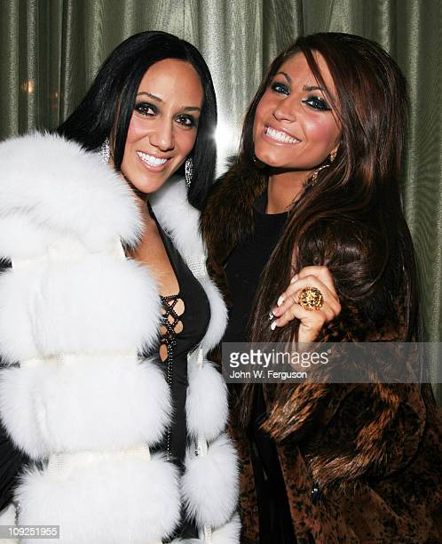 TV personalities Melissa Gorga and Tracy DiMarco attend the Alisa Maria Furs Fall 2011 fashion show during MercedesBenz Fashion Week at The Empire...