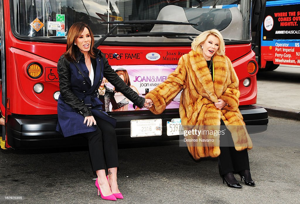 TV Personalities Melissa Rivers and Joan Rivers attend Gray Line New York honors WE tv stars Joan & Melissa Rivers at Pier 78 on March 1, 2013 in New York City.