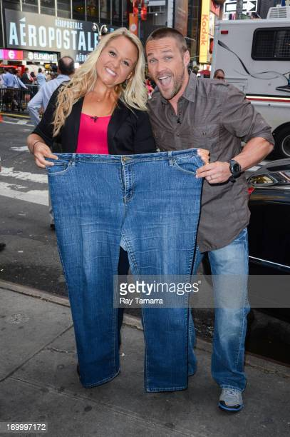 TV personalities Meredith Prince and Chris Powell leave the 'Good Morning America' taping at the ABC Times Square Studios on June 5 2013 in New York...