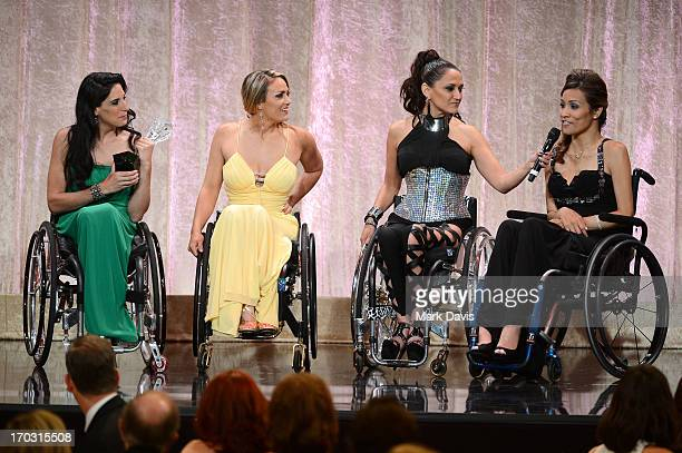 TV personalities Mia Schaikewitz Tiphany Adams Angela Rockwood and Auti Angel accept the Best Reality Series award for Push Girls onstage during...