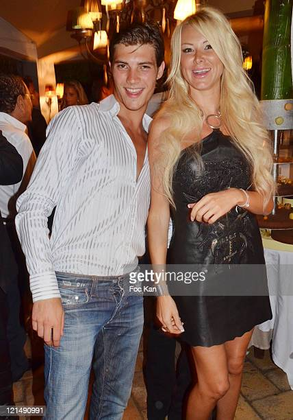 Personalities Michael Champion and Angie Be attends the Massimo Gargia Summer Party at Les Moulins de Ramatuelle on August 18, 2011 in Saint Tropez,...