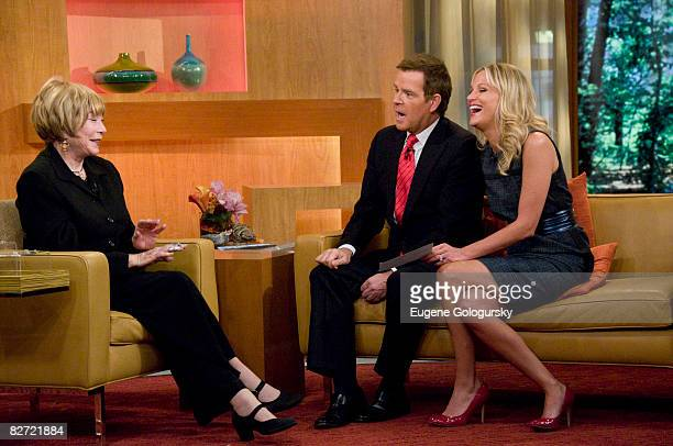 TV personalities Mike Jerrick and Juliet Huddy interview actress Shirley McClaine on FOX's The Morning Show With Mike and Juliet on September 8 2008...