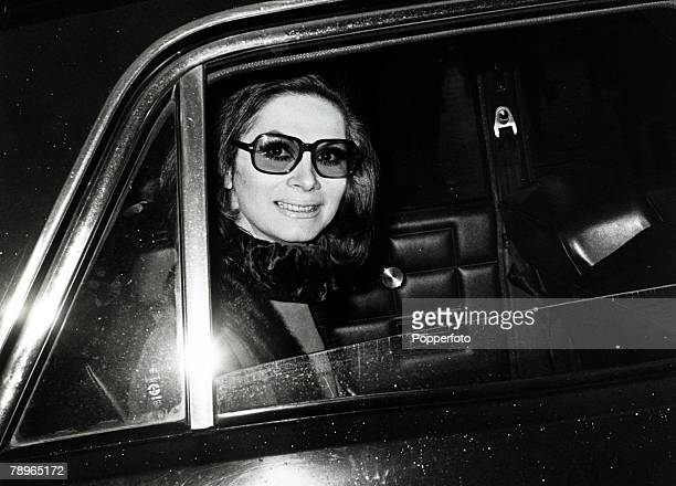12th November 1969 British fashion model showgirl and socialite April Ashley pictured as she leaves London's High Court where a case is being heard...