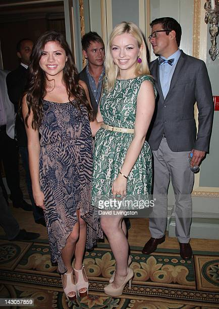 Personalities Morgan Eastwood and Francesca Eastwood attend the NBCUniversal summer press day held at The Langham Huntington Hotel and Spa on April...
