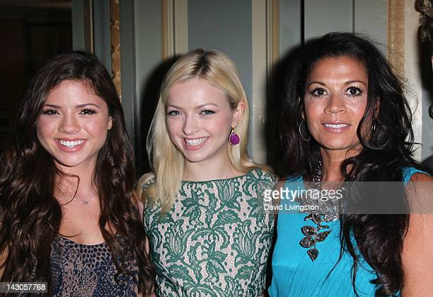 TV Personalities Morgan Eastwood Francesca Eastwood and Dina Eastwood attend the NBCUniversal summer press day held at The Langham Huntington Hotel...