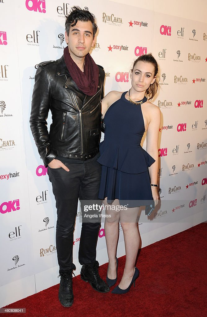 TV personalities Nick Simmons (L) and Sophie Simmons attends OK Magazine's So Sexy L.A. Event at LURE on May 21, 2014 in Los Angeles, California.