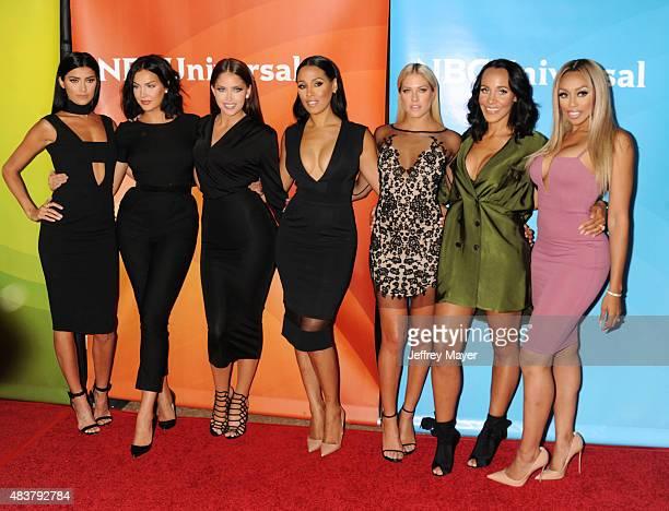 TV personalities Nicole Williams Natalie Halcro Olivia Pierson Sasha Gates Barbie Blank Ashley North and Autumn Ajirotutu attend the NBCUniversal...