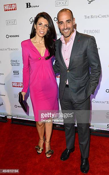 TV personalities Nina Rocco and David Rocco attend the HELLO Canada's 2014 Toronto International Film Festival Gala held at Ritz Carlton on September...