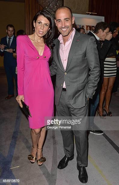 Personalities Nina Rocco and David Rocco attend the HELLO! Canada's 2014 Toronto International Film Festival Gala held at Ritz Carlton on September...