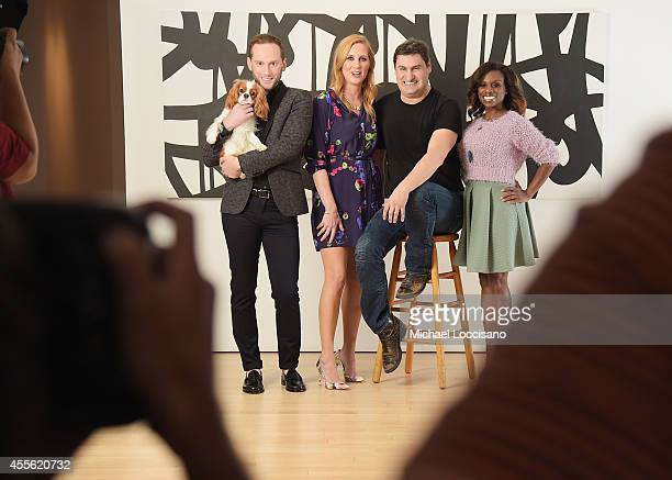 TV personalities Noah Levy Marianne Garvey Rob Shuter and Delaina Dixon pose for the Resident Magazine cover shoot of the hosts of VH1's The Gossip...