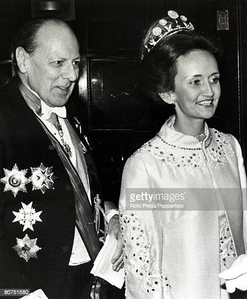 Personalities, Nobility, pic: February 1979, The Marquis of Bath and his wife arriving at a reception in London, shortly before they were to fly into...