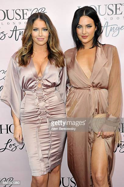 Personalities Olivia Pierson and Natalie Halcro attend the House of CB Flagship Store Launch party at the House of CB on June 14 2016 in West...