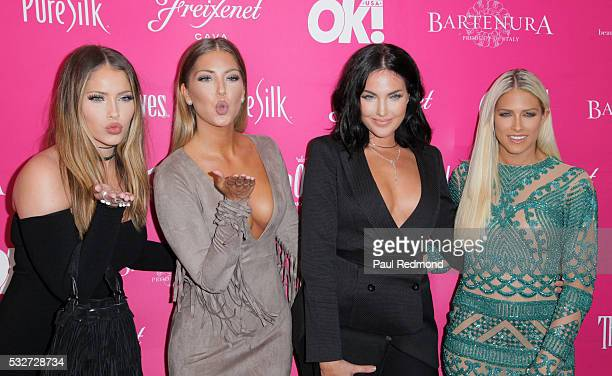 TV personalities Olivia Pierson Sophia Pierson Natalie Halcro and Barbie Blank from the television show WAGS arriving at OK Magazine's So Sexy LA at...