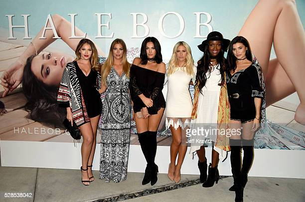 TV personalities Olivia Pierson Sophia Pierson Natalie Halcro Barbie BlankSouray Tia Shipman and Nicole Williams attend the Hale Bob Fiesta on May 5...