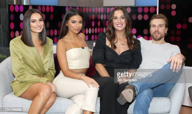 TV Personalities Paige DeSorbo Jules Daoud Hannah Berner and Luke Gulbranson visit People's Reality Check on February 05 2020 in New York United...