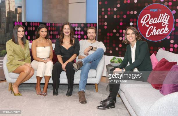TV Personalities Paige DeSorbo Jules Daoud Hannah Berner Luke Gulbranson and host Daryn Carp on the set of People's Reality Check on February 05 2020...