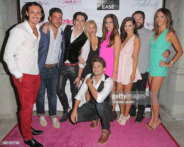 TV personalities Peter Madrigal Jax Taylor Tom Sandoval Ariana Madix Tom Schwartz Katie Maloney Scheana Marie Mike Shay and Kristen Doute attend...