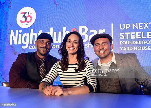 TV personalities Phil Wills Mia Mastroianni and Nick Liberato attend the 30th annual Nightclub Bar Convention and Trade Show at the Las Vegas...
