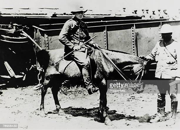 1896 An early picture of Winston Churchill on horseback taken while he was in South Africa working as a journalist
