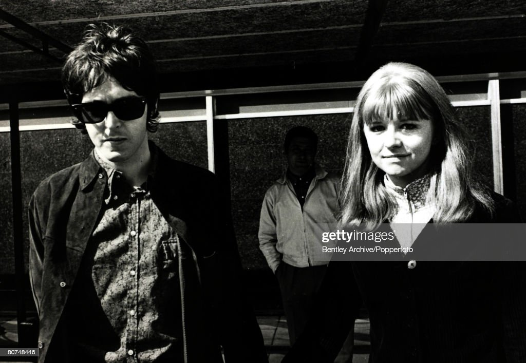 29th May 1967 Actress Jane Asher And Boyfriend Beatle Paul McCartney Pictured At Heathrow Airport
