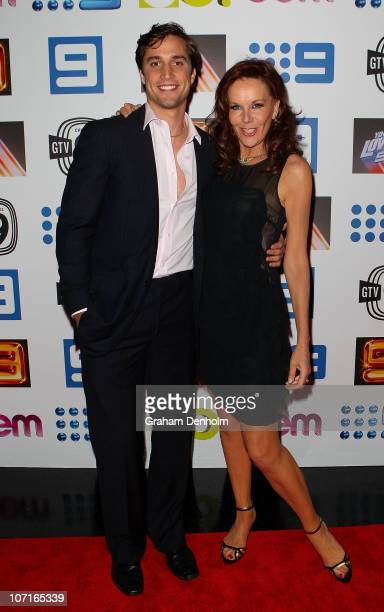 TV personalities PJ Lane and Rhonda Burchmore arrive at the live production of Lights Camera Party celebrating Channel Nine's Studio City on November...
