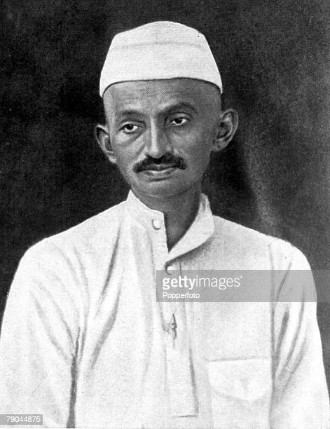circa 1927 Mahatma Gandhi Indian Nationalist leader a pacifist he led the struggle for Indian independence