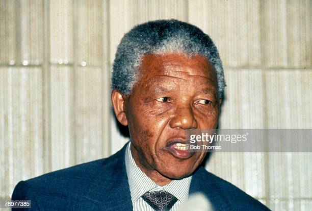 Personalities Politics South Africa pic circa 1993 Nelson Mandela Leader of the ANC who was to become the South Africa's first elected black...