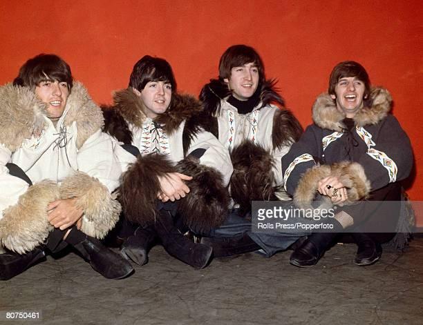 Personalities, Pop Music, pic: December 1964, London, The Beatles group, left-right, George Harrison, Paul McCartney, John Lennon and Ringo Starr...