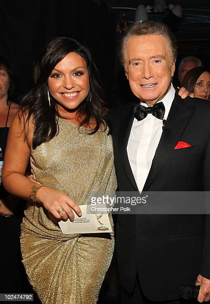 Personalities Rachael Ray and Regis Philbin attend the 37th Annual Daytime Entertainment Emmy Awards held at the Las Vegas Hilton on June 27, 2010 in...
