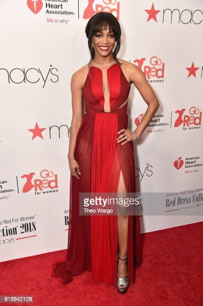 TV personalities Rachel Lindsay attends the American Heart Association's Go Red For Women Red Dress Collection 2018 presented by Macy's at...