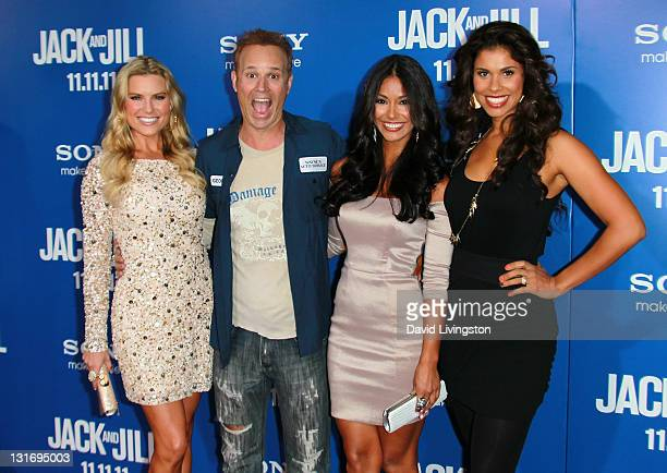 TV personalities Rachel Reynolds George Gray Manuela Arbelaez and Gwendolyn Osborne attend the premiere of Columbia Pictures' Jack And Jill at the...